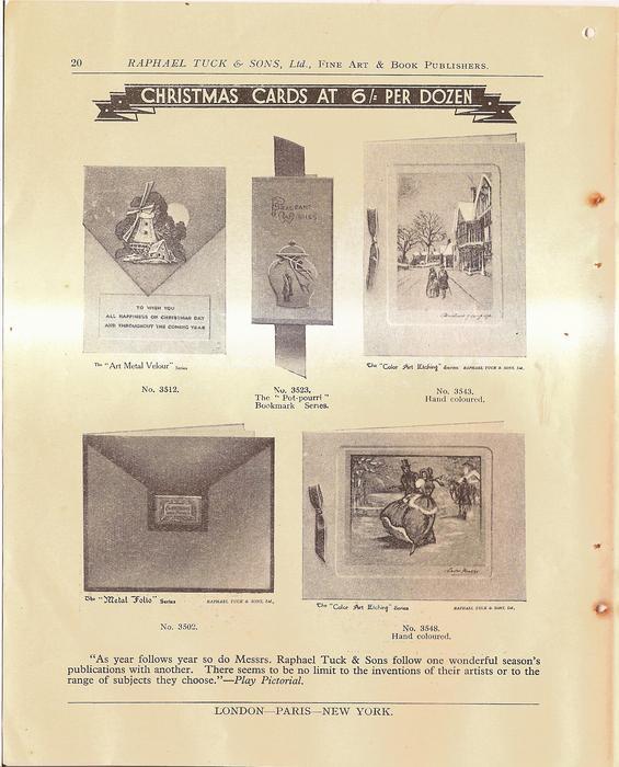 CHRISTMAS CARDS AT 6/ PER DOZEN