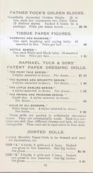 FATHER TUCK'S GOLDEN BLOCKS - TISSUE PAPER - RAPHAEL TUCK & SONS PATENT PAPER DRESSING DOLLS - JOINTED DOLLS