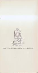 OUR PUBLICATIONS BEAR THIS IMPRINT
