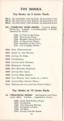 TOY BOOKS AT 5 CENTS EACH // TOY BOOKS AT 10 CENTS EACH
