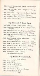 TOY BOOKS AT 40 CENTS EACH - TOY BOOKS AT 50 CENTS EACH