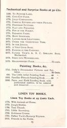 MECHANICAL AND SURPRISE BOOKS AT 50 CTS. // PAINTING BOOKS, &C. // LINEN TOY BOOKS