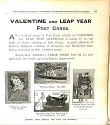 VALENTINE AND LEAP YEAR POST CARDS