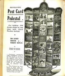 REVOLVING POST CARD PEDESTAL
