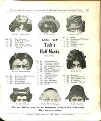 """LIST OF """"TUCK'S"""" HALF-MASKS"""