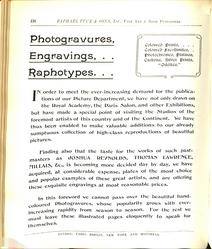 PHOTOGRAVURES, ENGRAVINGS,.. RAPHOTYPES