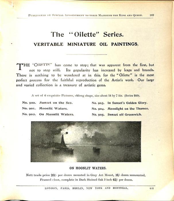 """THE """"OILETTE"""" SERIES."""