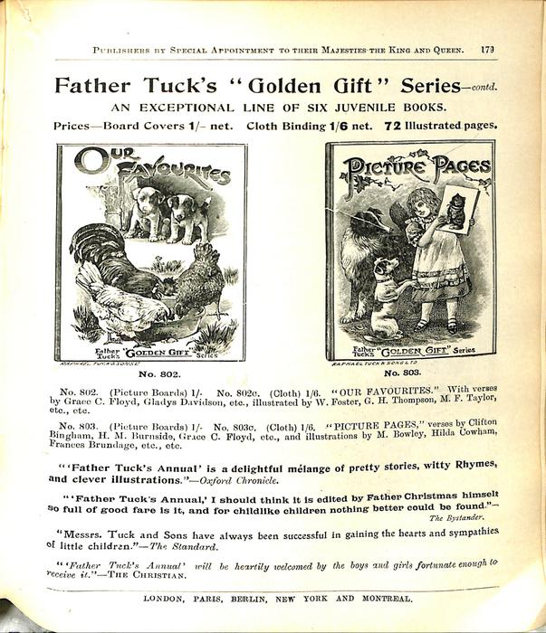 """FATHER TUCK'S """"GOLDEN GIFT"""" SERIES - CONTD."""