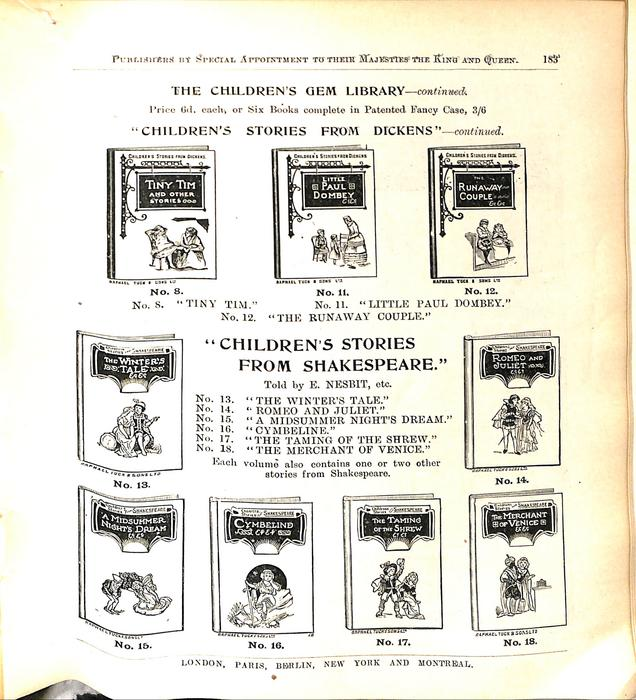 THE CHILDREN'S GEM LIBRARY - CONTINUED