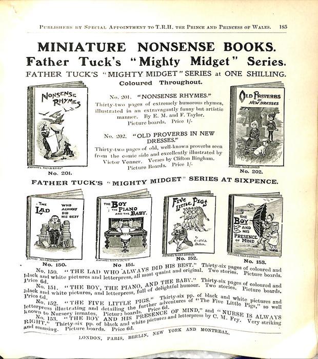 MINIATURE NONSENSE BOOKS.