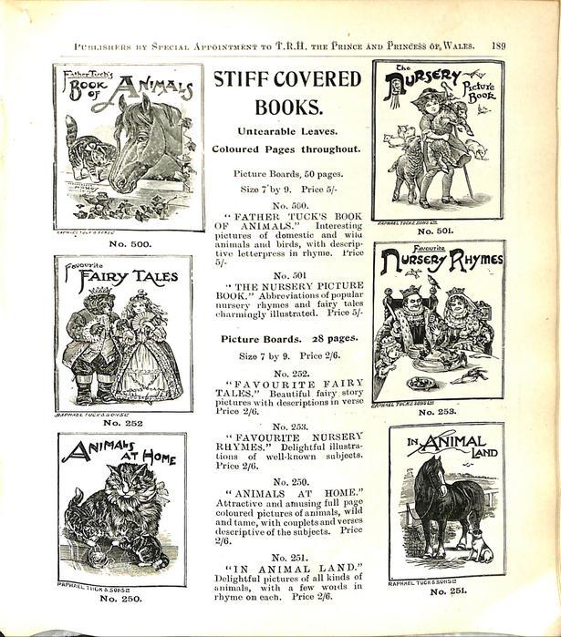 STIFF COVERED BOOKS