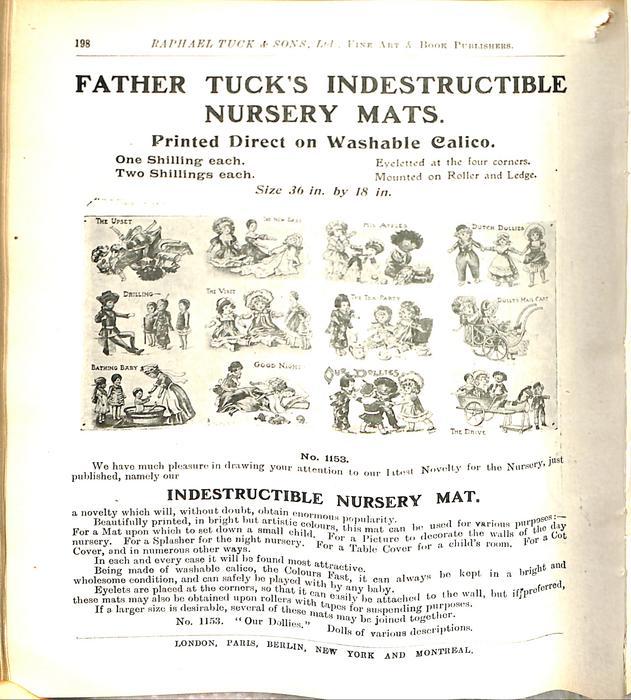 FATHER TUCK'S INDESTRUCTIBLE NURSERY MATS
