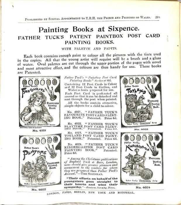 PAINTING BOOKS AT SIXPENCE