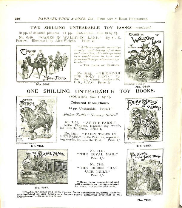 TWO SHILLING UNTEARABLE TOY BOOKS - CONTINUED