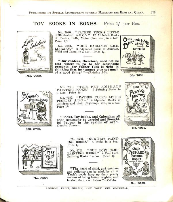 TOY BOOKS IN BOXES