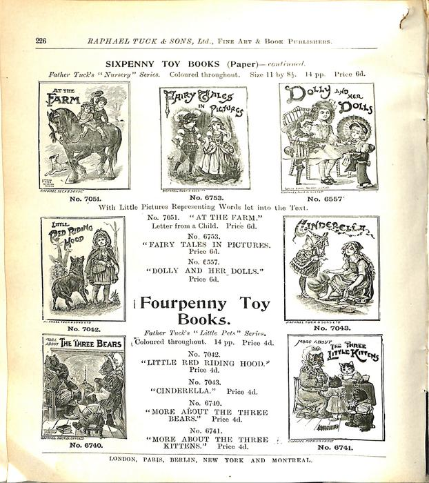 SIXPENNY TOY BOOKS (PAPER) - CONTINUED