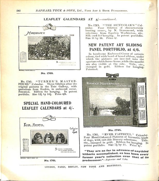 LEAFLET CALENDARS AT 5/- CONTINUED