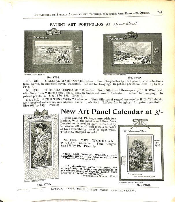PATENT ART PORTFOLIOS AT 3/- CONTINUED