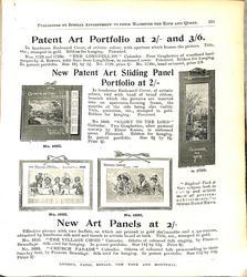 PATENT ART PORTFOLIO AT 2/- AND 3/6