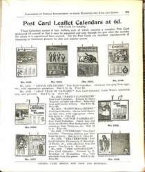POST CARD LEAFLET CALENDARS AT 6D.