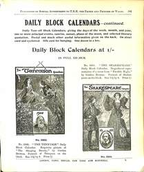 DAILY BLOCK CALENDARS - CONTINUED