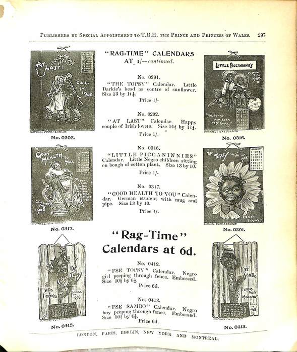 """RAG TIME"" CALENDARS AT 1/- CONTINUED"