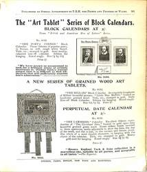 "THE ""ART TABLET"" SERIES OF BLOCK CALENDARS"