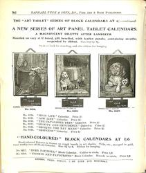 "THE ""ART TABLET"" SERIES OF BLOCK CALENDARS AT 2/- CONTINUED"