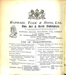RAPHAEL TUCK & SONS, LTD.