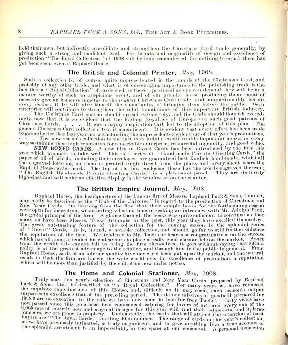 THE BRITISH AND COLONIAL PRINTER, MAY, 1908