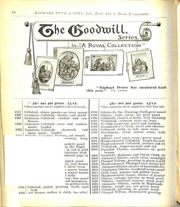 """THE GOODWILL. SERIES IN """"A ROYAL COLLECTION"""""""