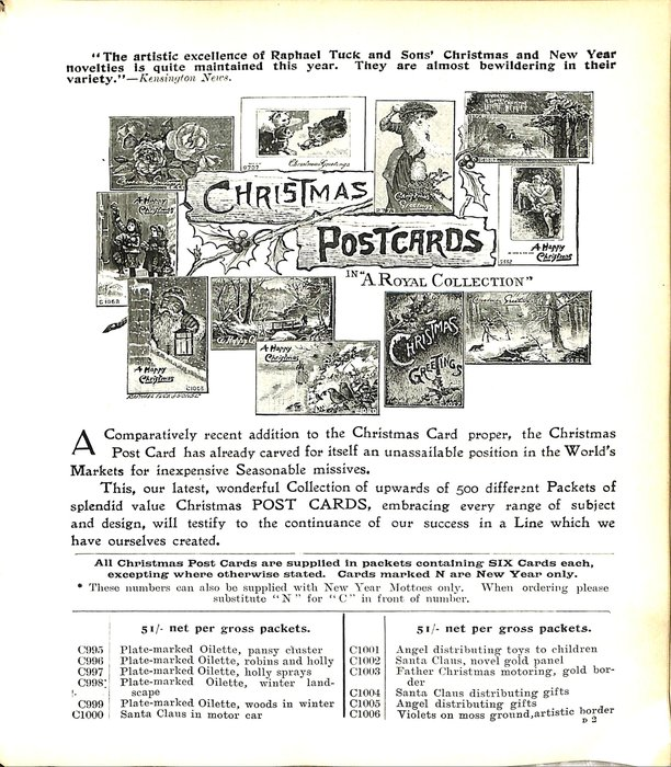 """CHRISTMAS POSTCARDS IN """"A ROYAL COLLECTION"""""""