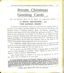 PRIVATE CHRISTMAS GREETING CARDS