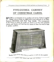 FIVE-GUINEA CABINET OF CHRISTMAS CARDS