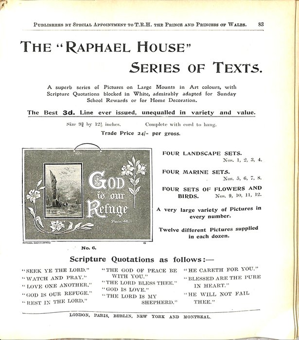 "THE ""RAPHAEL HOUSE"" SERIES OF TEXTS."