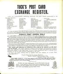 TUCK'S POST CARD EXCHANGE REGISTER