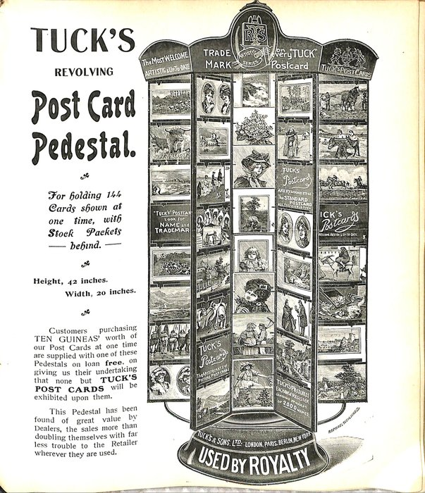 TUCK'S REVOLVING POST CARD PEDESTAL
