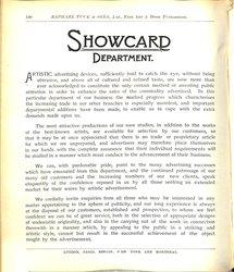 SHOWCASE DEPARTMENT