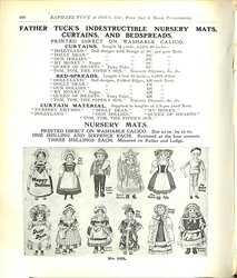 FATHER TUCK'S INDESTRUCTIBLE NURSERY MATS, CURTAINS, AND BEDSPREADS