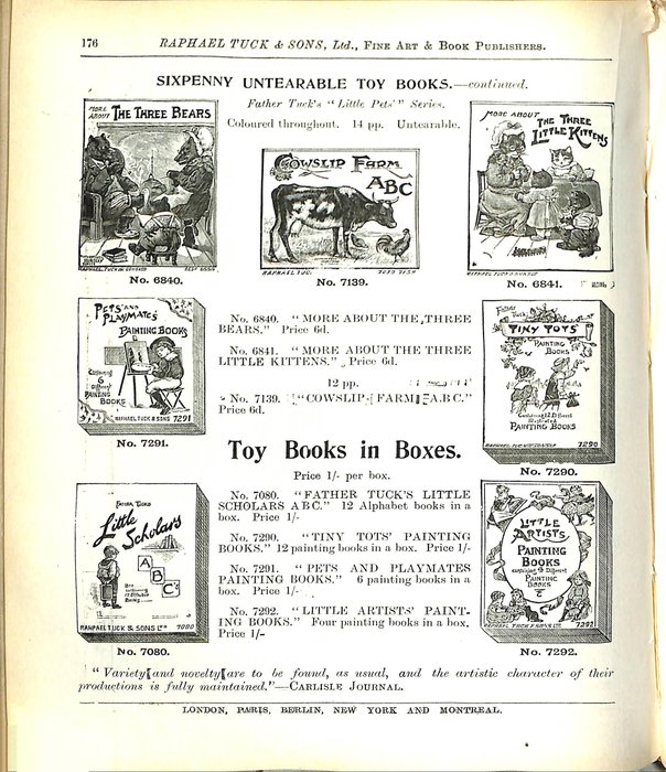 SIXPENNY UNTEARABLE TOY BOOKS - CONTINUED