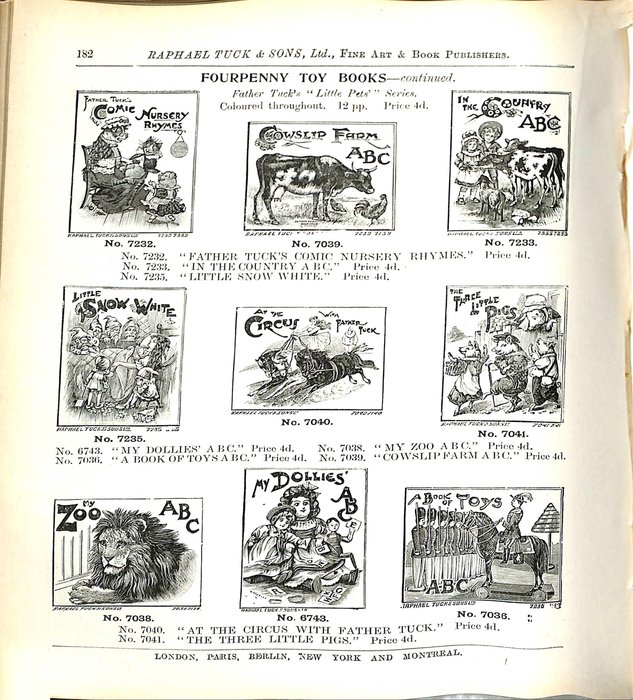 FOURPENNY TOY BOOKS - CONTINUED