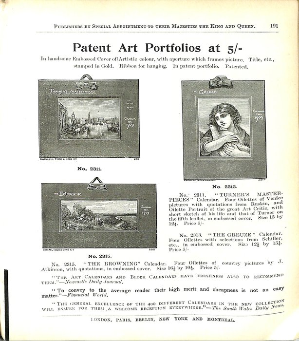 PATENT ART PORTFOLIOS AT 5/=