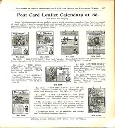 POST CARD LEAFLET CALENDARS AT 6D