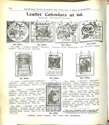 LEAFLET CALENDARS AT 6D