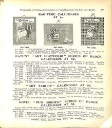 RAG-TIME CALENDARS AT 1/-