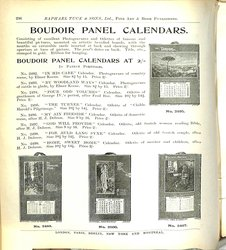 BOUDOIR PANEL CALENDARS AT 2/- CONTINUED