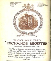 "TUCK'S POST CARD ""EXCHANGE REGISTER"""