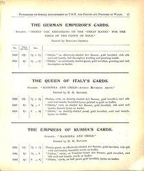 THE GERMAN EMPEROR'S CARDS