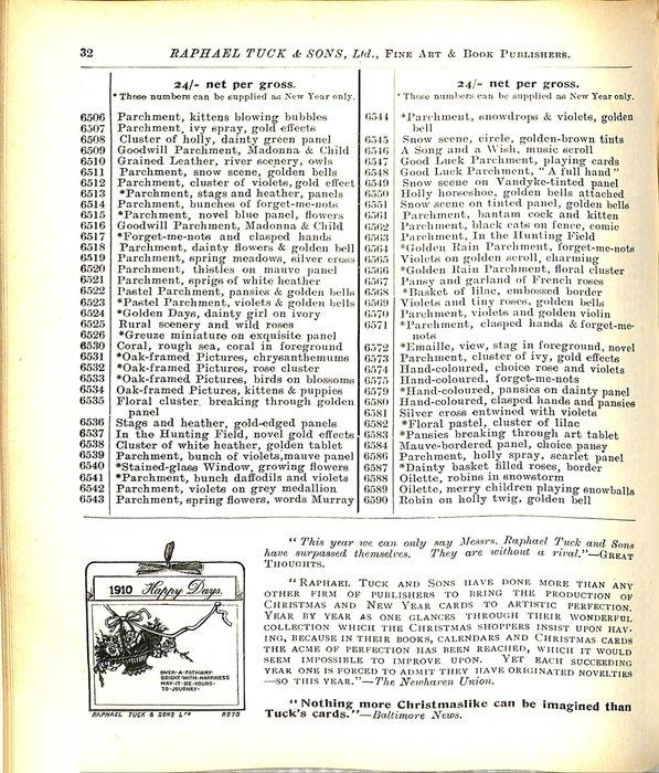 1910 HAPPY DAYS