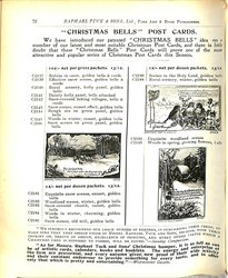 """""""CHRISTMAS BELLS"""" POST CARDS"""